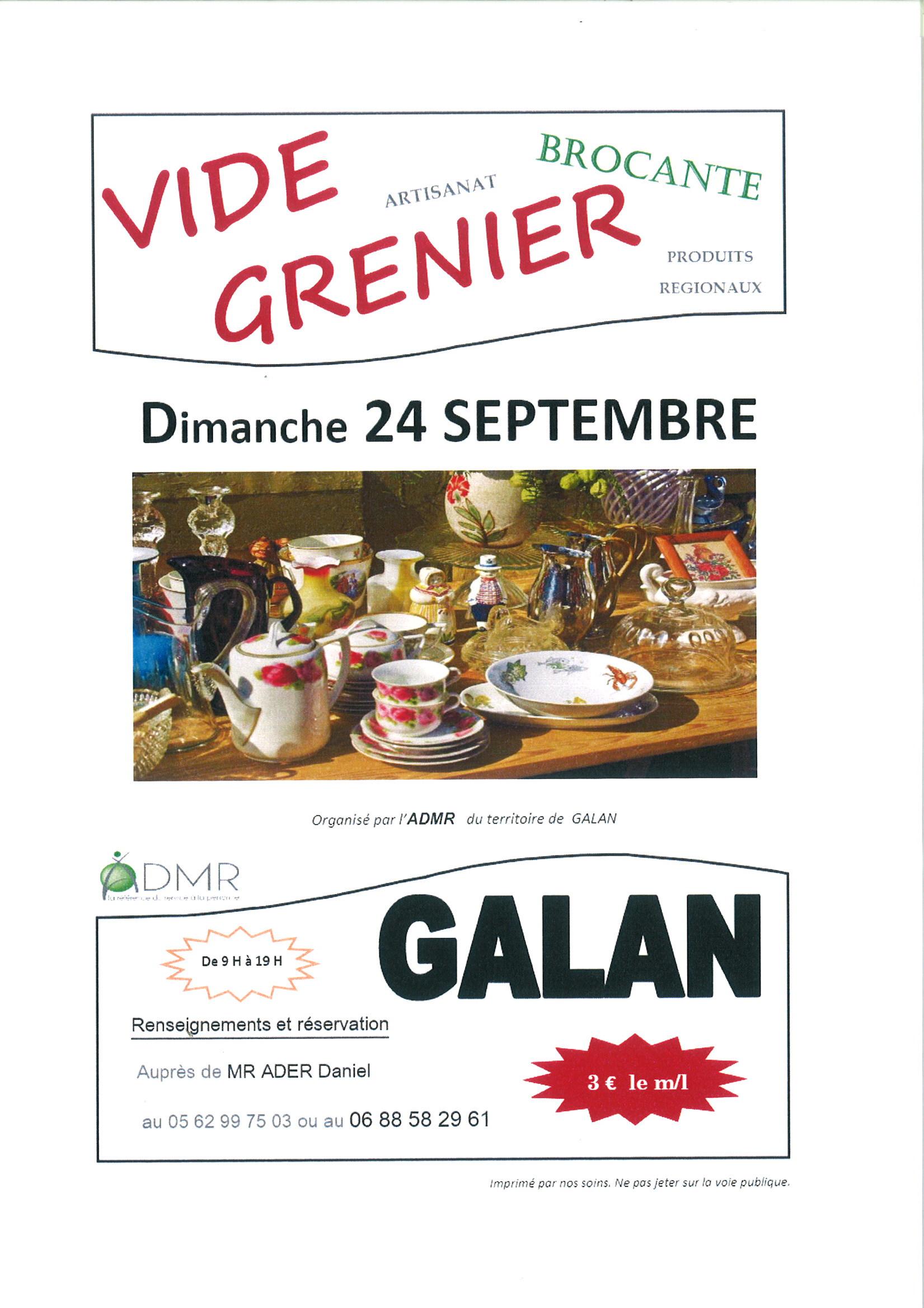 Vide grenier mairie de galan for Vide grenier loiret 2017